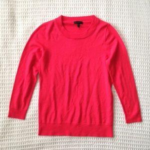 J. Crew Tippi merino sweater bright red size Small